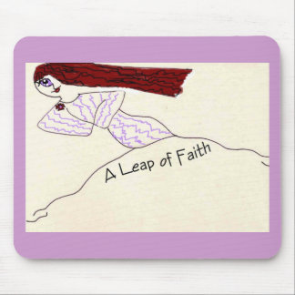 A Leap of Faith Mouse Pads