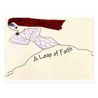 A Leap of Faith Postcard