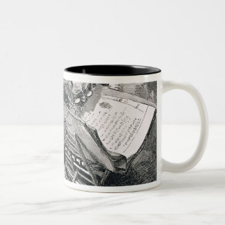 A Learned Man Absorbed in the Koran Two-Tone Coffee Mug