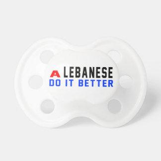 A Lebanese Do It Better BooginHead Pacifier