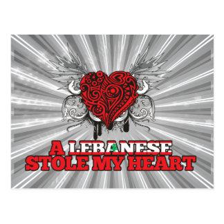A Lebanese Stole my Heart Postcard