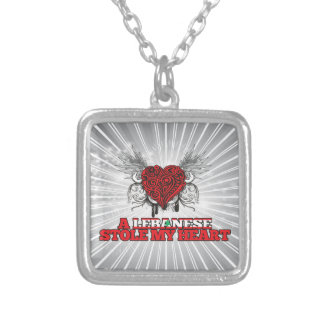 A Lebanese Stole my Heart Square Pendant Necklace