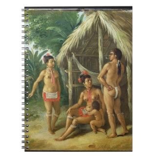 A Leeward Islands Carib Family outside a Hut, c.17 Spiral Note Books