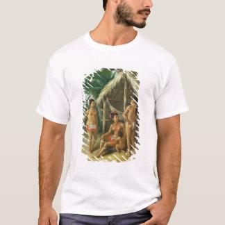 A Leeward Islands Carib Family outside a Hut, c.17 T-Shirt