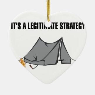 A Legitimate Strategy Ceramic Ornament