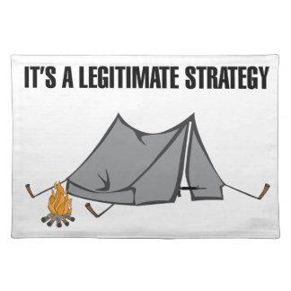 A Legitimate Strategy Cloth Placemat