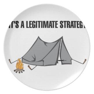 A Legitimate Strategy Dinner Plate