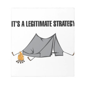 A Legitimate Strategy Notepad