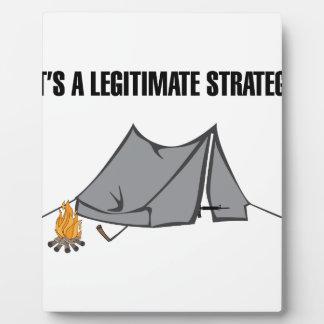 A Legitimate Strategy Plaque