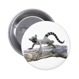 A Lemur on a Tree Pinback Button