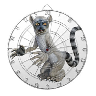 A Lemur Standing and Looking Dart Board