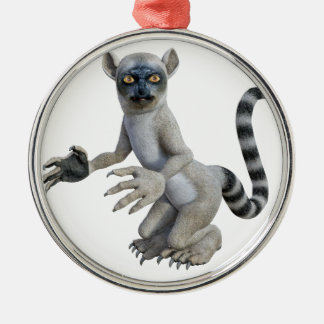 A Lemur Standing and Looking Metal Ornament