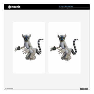 A Lemur Standing and Looking Skins For Kindle Fire
