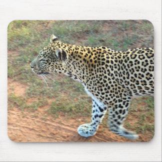 A Leopard Walking Mouse Pads