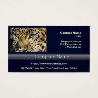 A Leopard's Eyes Business Card