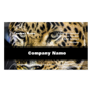 A Leopard's Eyes Double-Sided Standard Business Cards (Pack Of 100)