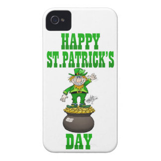 A Leprechaun standing on a pot of gold. Case-Mate iPhone 4 Case