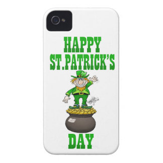 A Leprechaun standing on a pot of gold. iPhone 4 Case-Mate Case