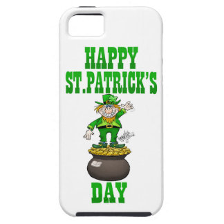 A Leprechaun standing on a pot of gold. iPhone SE/5/5s Case
