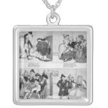 A Lesson for Spendthrifts by Dr. Johnson, 1794 Square Pendant Necklace
