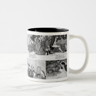 A Lesson for Spendthrifts by Dr. Johnson, 1794 Two-Tone Coffee Mug