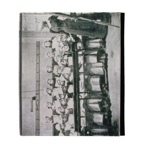 A Lesson in Domestic Science (b&w photo) iPad Folio Case