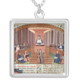 A Lesson in Theology at the Sorbonne Personalized Necklace