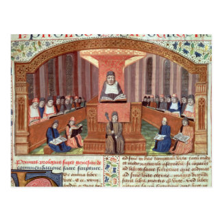 A Lesson in Theology at the Sorbonne Postcard