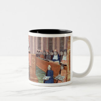 A Lesson in Theology at the Sorbonne Two-Tone Coffee Mug