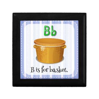 A letter B for basket Trinket Boxes