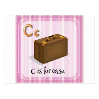A letter C for case Postcard