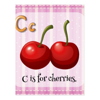 A letter C for cherries Postcard