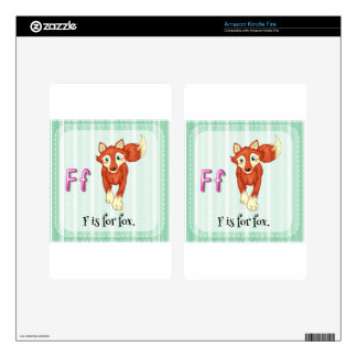 A letter F for fox Kindle Fire Decals