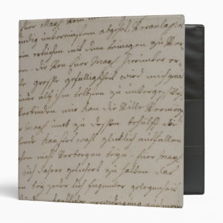 A letter from Maria Theresa to King Frederick 3 Ring Binder