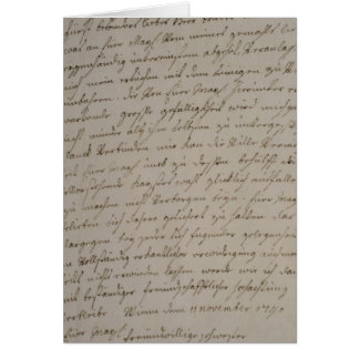 A letter from Maria Theresa to King Frederick Card