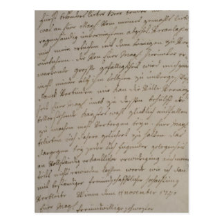 A letter from Maria Theresa to King Frederick Postcards