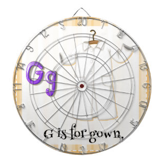 A Letter G for Gown Dartboards