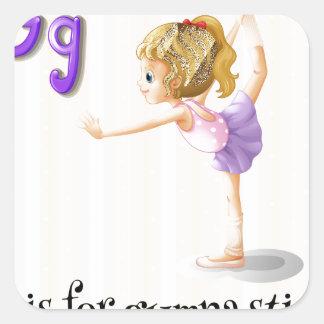 A letter G Square Sticker