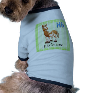 A letter H for horse Dog Tee Shirt