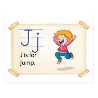 A letter J for jump Postcard