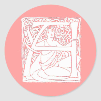 A Letter Lady Classic Round Sticker