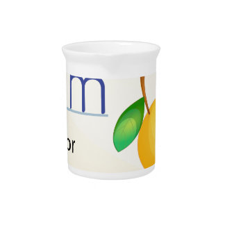 A letter M for mango Drink Pitchers