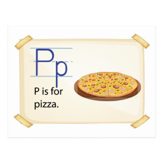 A letter P for pizza Postcard