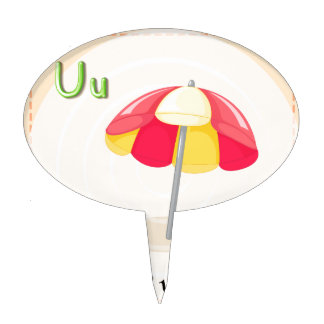 A letter U Cake Toppers