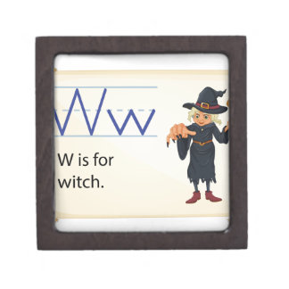 A letter W for witch Premium Gift Boxes