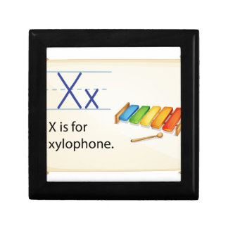 A letter X for xylophone Keepsake Box