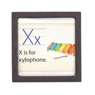 A letter X for xylophone Premium Keepsake Box