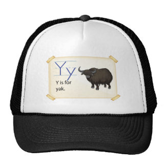 A letter Y for yak Trucker Hat