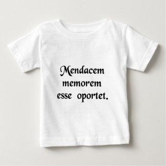 A liar needs a good memory. infant t-shirt