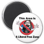 A Liberal Free Zone Fridge Magnet